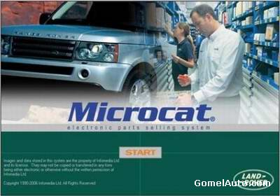 Каталог запчастей Land Rover Microcat версия 3.4.0.3 сентябрь 2009 год