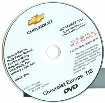 GM DAT TIS: Chevrolet Europe Technical Information System