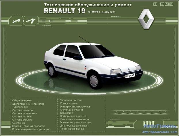 Руководство по ремонту renault scenik1996 года выпуска