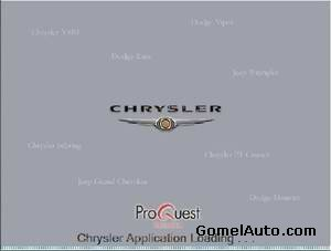 Каталог запчастей Chrysler USA 10.2009