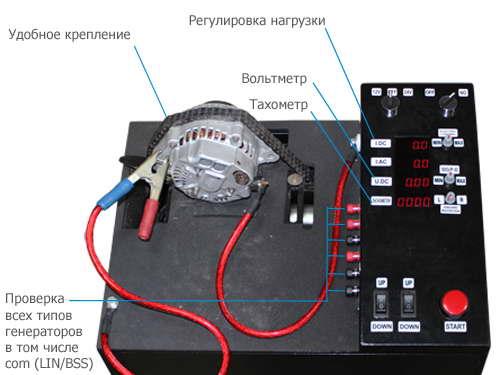 Схема стенда для проверки генератора своими руками