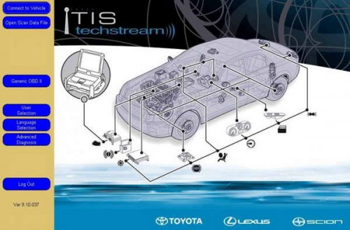 Программное обеспечение Toyota Techstream вер. 9.10.037 2014 год