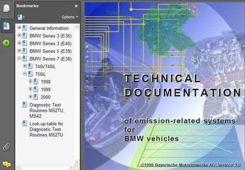 Скачать BMW Technical Documentation of emission-related systems