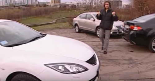 Наши тесты: Honda Accord, VW Passat, Mazda 6 (2008). Видео.