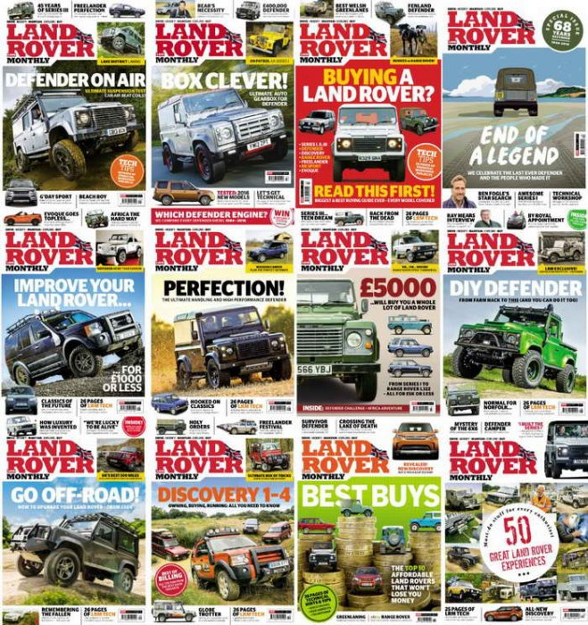 Журнал Land Rover Monthly. Подборка номеров за 2016 год